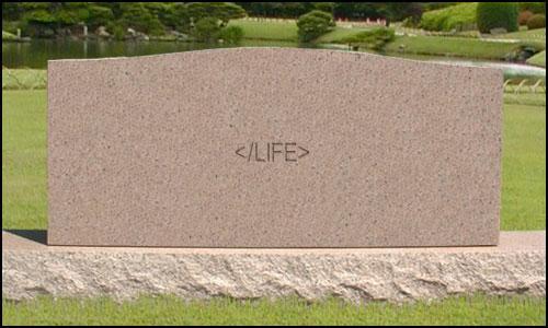 HTML墓石