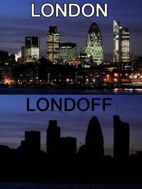 ロンドンのオンオフ