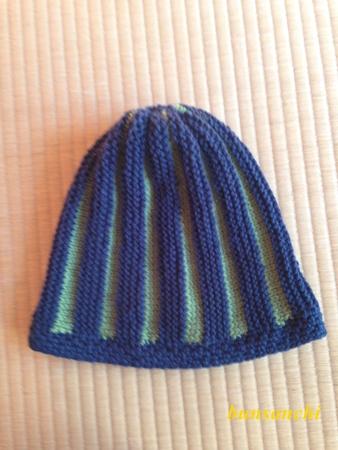 縞々帽子①
