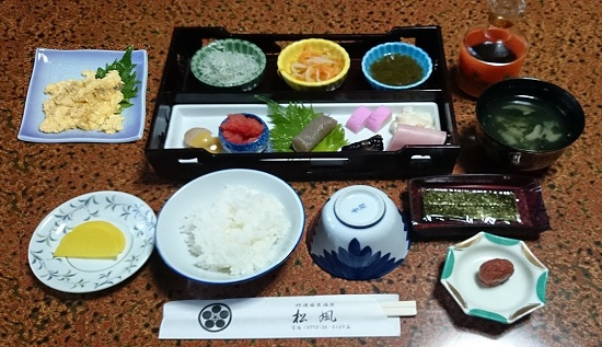 カニ宿朝食