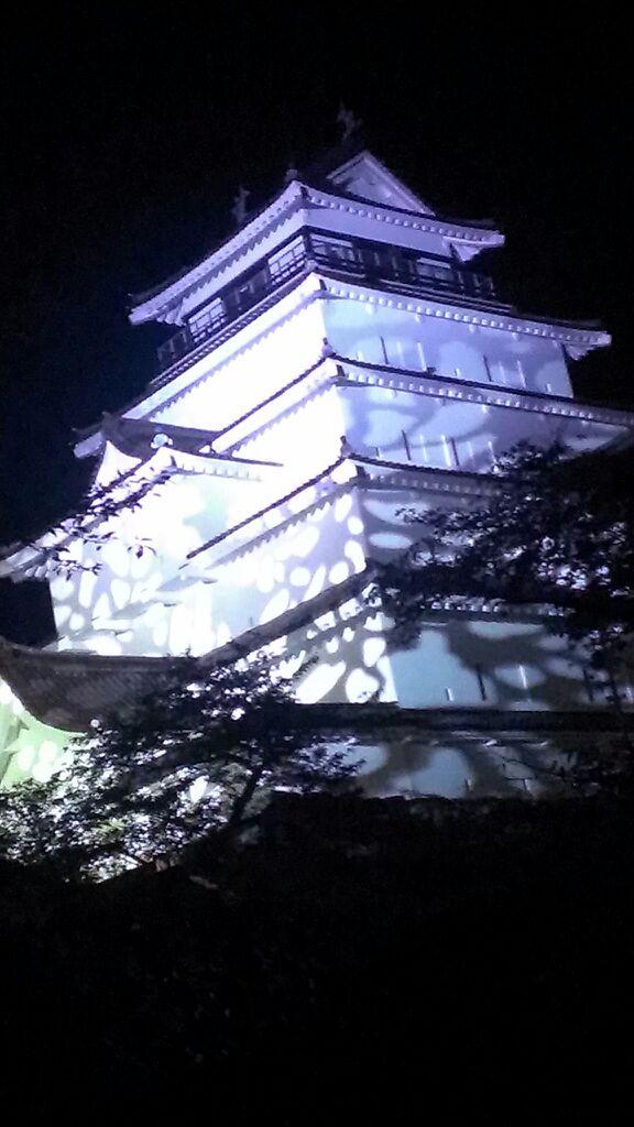 20150807鶴ヶ城夜景