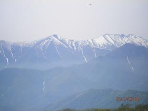 縮小2日高山脈