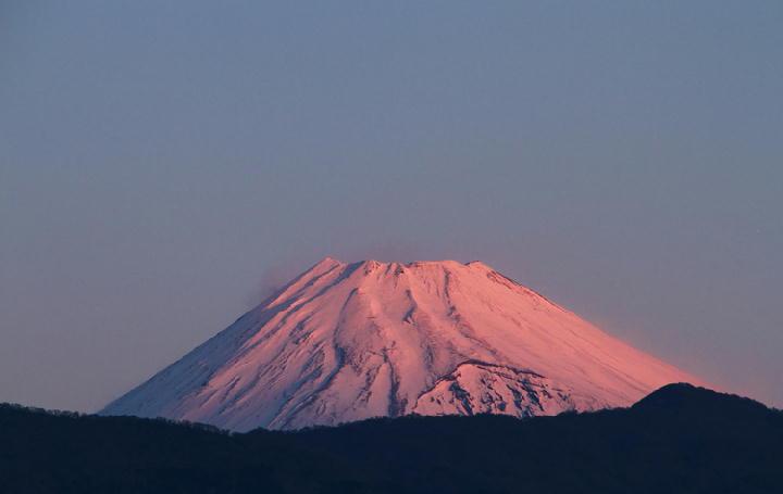 3日 6-57 今朝の富士山-1