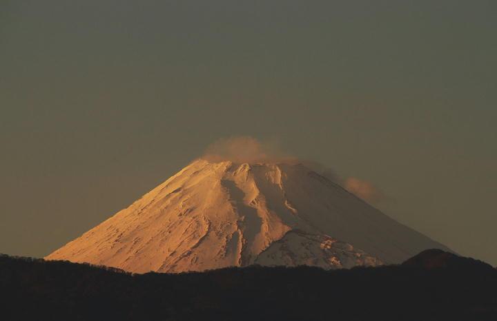 4日 16-29 夕方の富士山-1