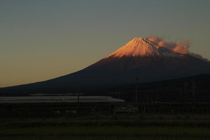 富士山と新幹線-939