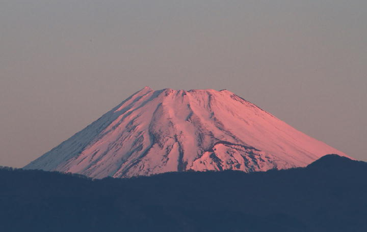 9日 6-54 今朝の富士山-1