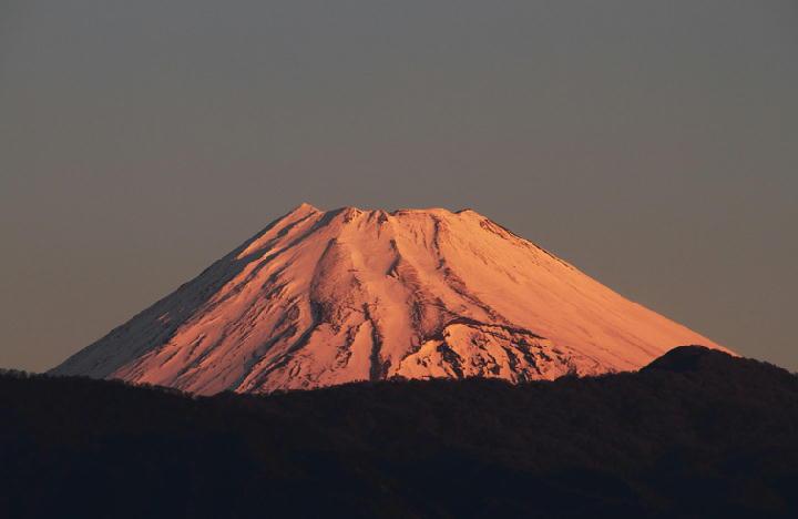 10日 7-00 今朝の富士山-1
