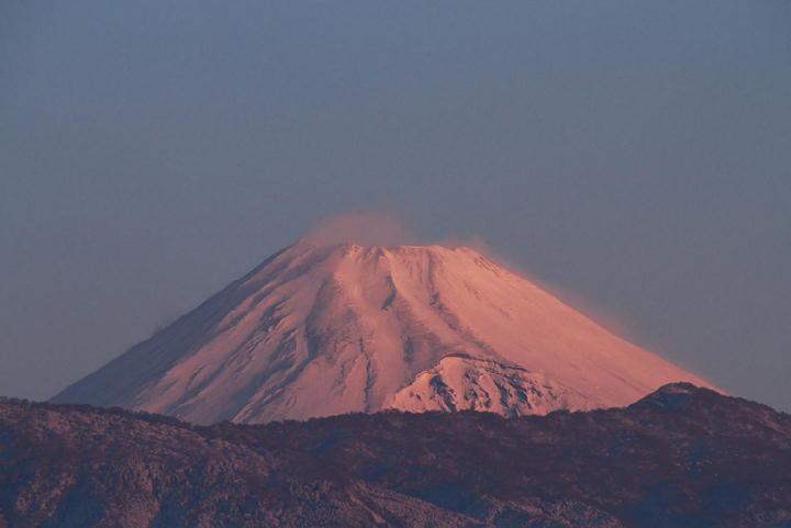 6日 6-50 今朝の富士山-1
