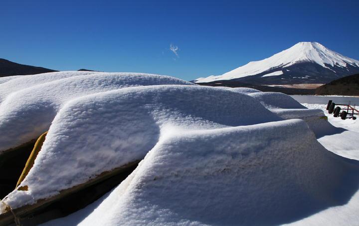 結氷の山中湖-296