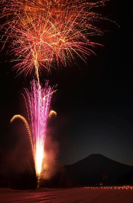 山中湖の花火