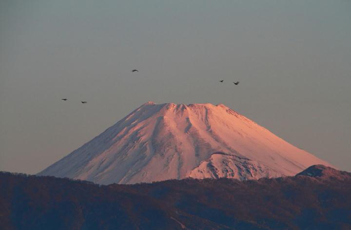 19日 6-33 今朝の富士山-1