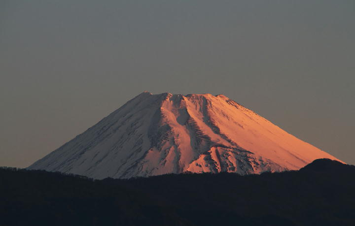 25日 5-50 今朝の富士山-2
