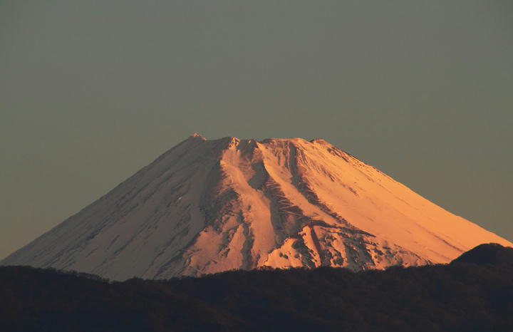26日 5-55 今朝の富士山-1