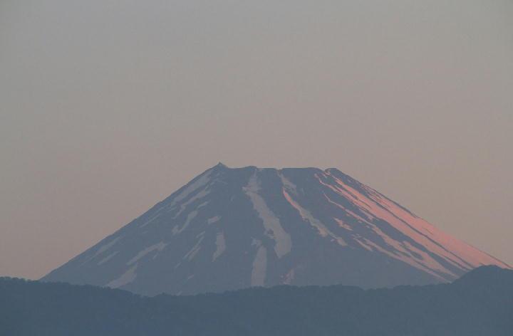 14日 4-47 今朝の富士山-1