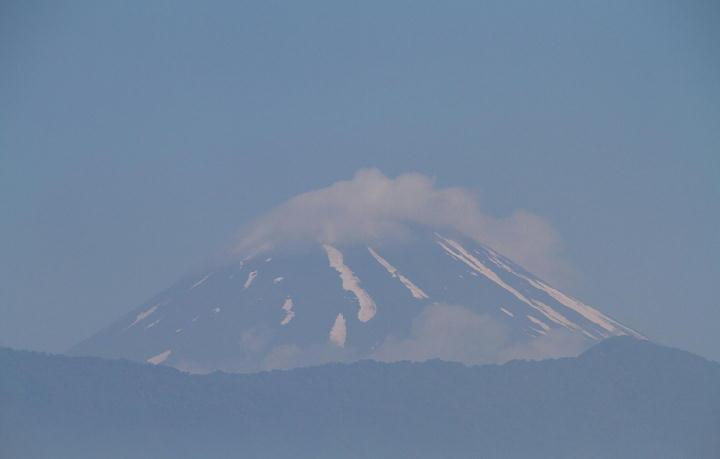 31日 8-24 今朝の富士山