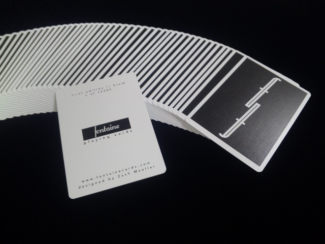 Fontain Playing Card Black (4)
