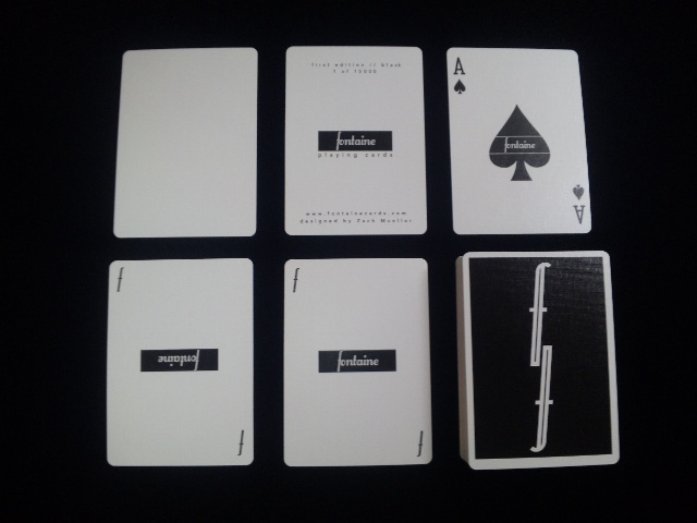 Fontain Playing Card Black (5)