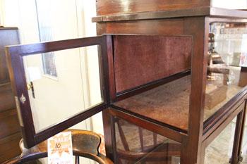 ショーケース 木味 ディスプレイ棚 木製キャビネット