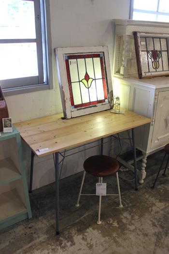 カフェテーブル 木製 パソコンデスク 春日井 中古 家具 リメイク