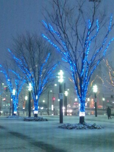 駅北ルミネ雪の日