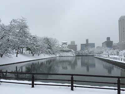 城址公園201502雪1