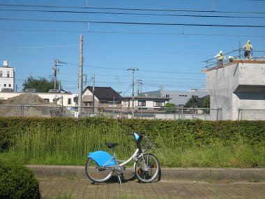 橋脚工事中201109