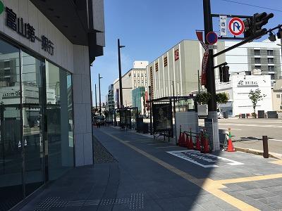 富山キラリ前バス停
