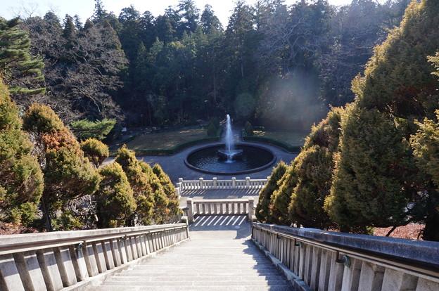 成田山公園の噴水