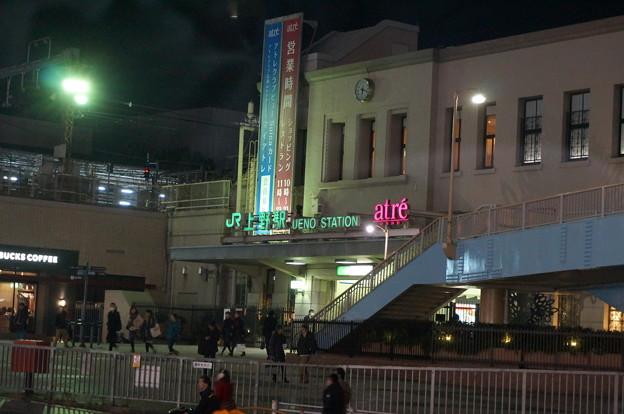 夕方の上野駅