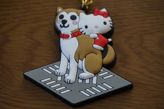 ハチ公&キティちゃんのキーホルダー