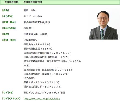 関西福祉大学 勝田吉彰