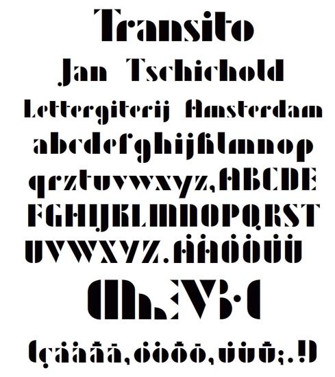 ヤン・チヒョルト作 Zeus 1931 font