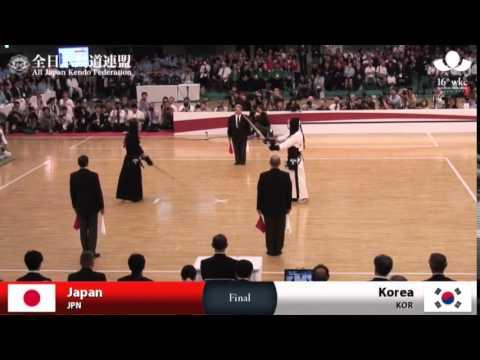 東京武道館(武道館)で開かれた第16回世界剣道選手権大会団体戦