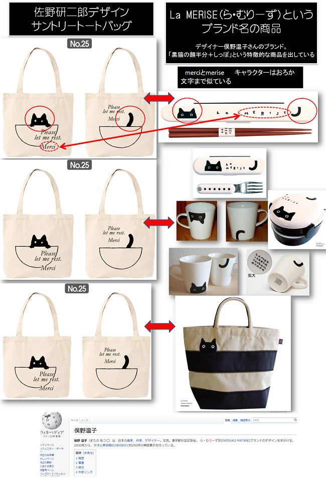NO.25 猫 (既存商品の細部を改変、ブランド名MeriseをMerciに偽造)