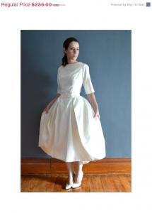 1960年代ヴィンテージウェディングドレス