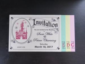ディズニーパスポートブックレット結婚式招待状インビテーション2