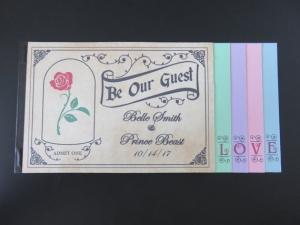 ディズニーパスポートブックレット結婚式招待状インビテーション3