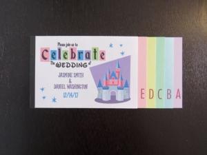 ディズニーパスポートブックレット結婚式招待状インビテーション6