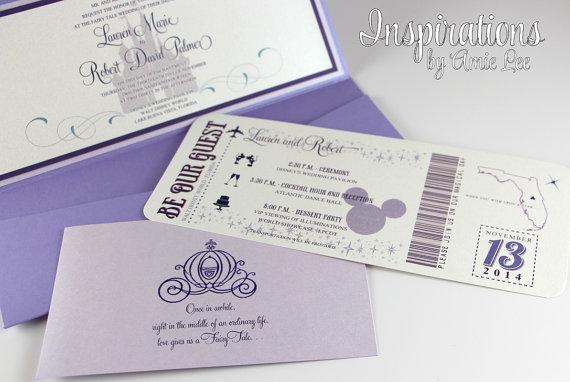 おしゃれ!ディズニーデザインの結婚式招待状の通販はetsyで♡
