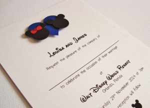 ディズニー結婚式招待状インビテーションシンプル