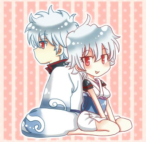 ちびキャラ(銀さん&銀子さん)