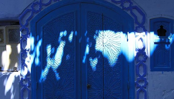 青い扉・光の影