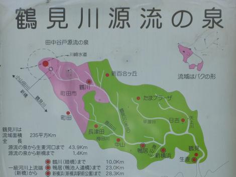 鶴見川源流の泉説明パネル