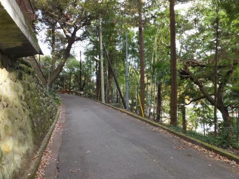 山崎発電所隧道付近の道・箱根町湯本