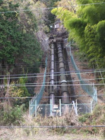 東京電力山崎発電所・水圧鉄管