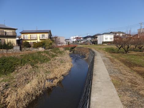 向原橋付近より鈴川上流を望む