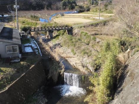 崖下橋付近の鈴川