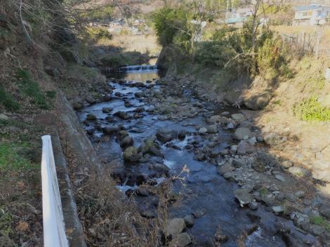 大坪橋より鈴川上流を望む