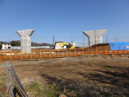 工事中の新東名高速道路