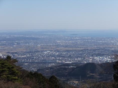 大山阿夫利神社下社からの眺望